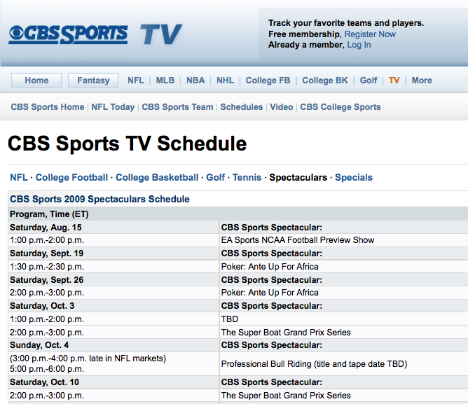 Superboat On Cbs Sports Spectacular This Fall