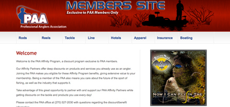 Professional Anglers Association - Member Site