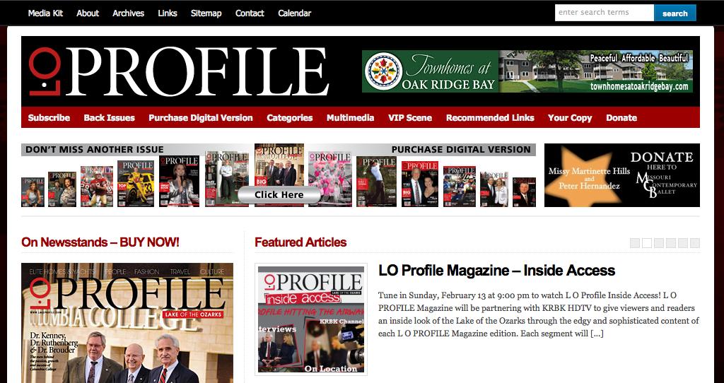 Website Redesign for LO Profile Magazine