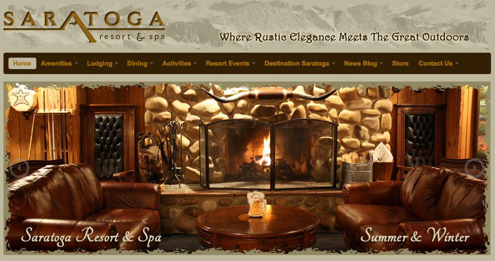 New Website Design | Saratoga Resort and Spa