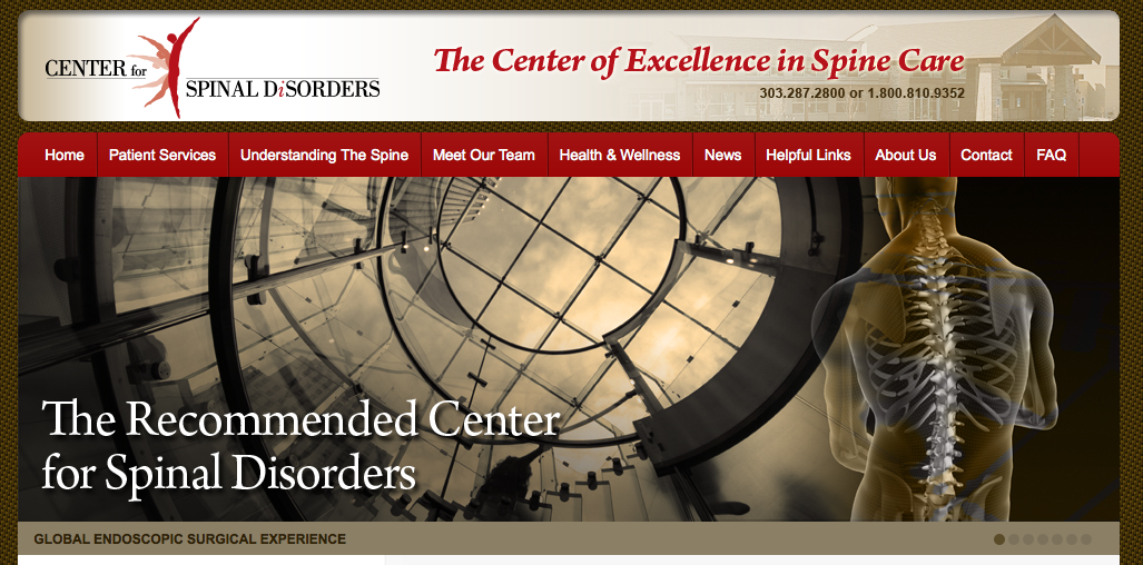 Center For Spinal Disorders