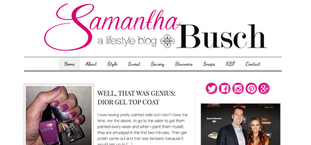 New Website Design | Samantha Busch
